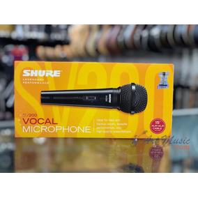 Microfone Shure Sv200 + Cabo | Original + Nf | 2 Anos Garant
