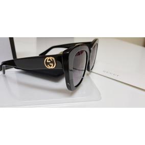 40ea99877e19d Óculos De Sol Gucci Gc0327s Preto E Lentes Cinza Original. R  950