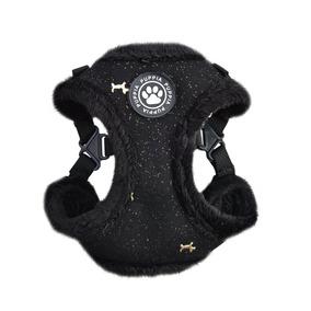 Puppia Gia Arnés C, Tamaño Grande, Color Negro