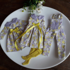 Outfit Lote Roupas Blythe Pullip Lilas E Amarelo