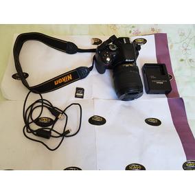 Camera Nikon D5100 Lente 18x105 Cartão 64 Gb Pouco Usada