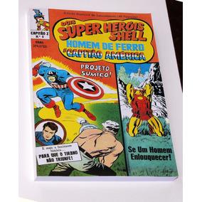 Capitão Z Ebal Super Heróis Shell 00 Ao 15 - Encadernados