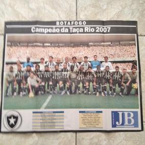 Jornal Jb Botafogo Campeão Da Taça Rio 2007 Pôster 42x40cm