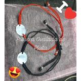 Pulsera De Plata Ovalada