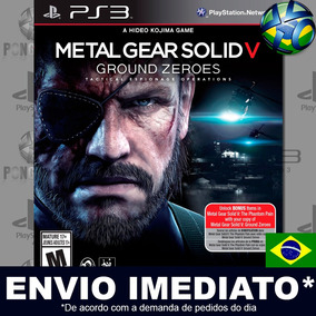 Metal Gear Solid V Ground Zeroes Ps3 Leg. Português Envio Já