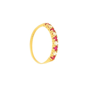 Ar0509-380 Meia Aliança Pedra Vermelhas - Joias e Relógios no ... 4365c0d1ba