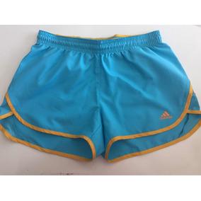 Shorts adidas Performance Fem Azul Claro E Amarelo Tam S 9bdde912a1d63