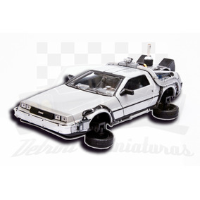 Delorean Back To The Future 2 Modo Voo 1:24 Welly C/ Caixa