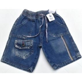 Bermuda Jeans Menino Bebê A.r 5003