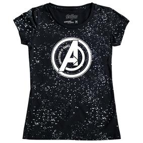 Playera Mujer Avengers Space Logo Máscara De Látex Endgame