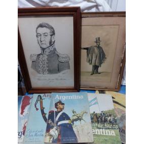 Antiguos Cuadros San Martin Y Tenue De Campagnel + Revistas