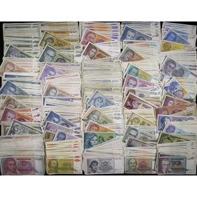 Lote Estrangeiras Com 100 Cédulas Antigas Iugoslávia Mbc Bc