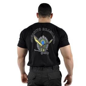 468ae5184f6ca Camiseta Bordada Exercito Brasileiro - Calçados
