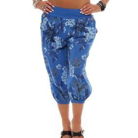 Verano Mujeres Ocio Moda Suelto Cosechado Pantalones Flor Im