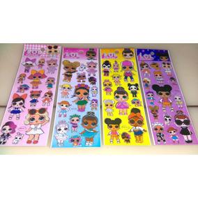 Kit 60 Cartelas Adesivos Sticker - Lol Surprise