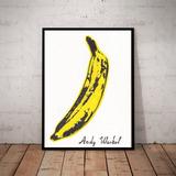 Lindo Quadro Decorativo Pop Art Andy Warhol Banana Grande 42