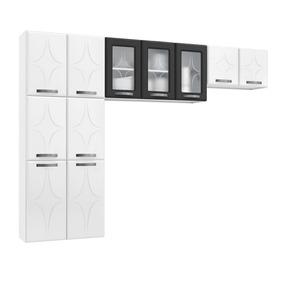 Cozinha Compacta Telasul Rubi 3 Peças S/ Balcão Branco/preto
