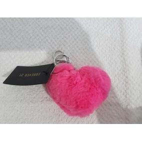 Chaveiro Forever 21 Coração Pink