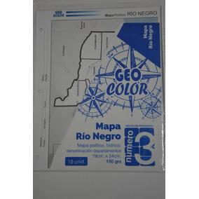 Mapa Politico Provincia Rio Negro Nº 3. X 10 Unidades