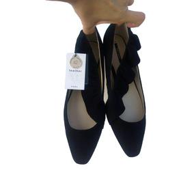 Zapato Plano, Flat, Negro, De Piel, De La Marca Zara