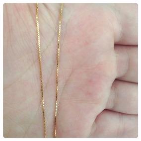 Corrente Veneziana Masculina Folheada Ouro 18k 60cm 0,5mm