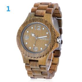 Reloj Bewell Zs-w038a Sandalwood De Madera/cuarzo P/hombre