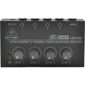 Amplificador De Fones Behringer Ha400 Ha 400 Linha Prof Nf
