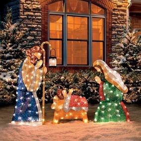 f313ddf70e9 Adornos Navidad Decoracion Iluminados Nacimiento Grande Bril