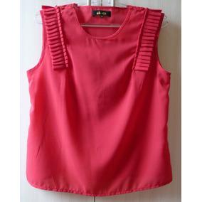 Blusa Maravilhosa Com Detalhes Vermelha Nk P cea - Tam. 40 df3641028f2