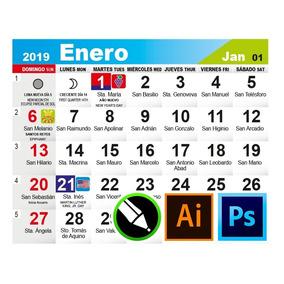 Calendario Santoral 2019.Diseno Calendario 2019 Santoral