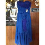 Vestido Elegante Azul Fiesta Straper