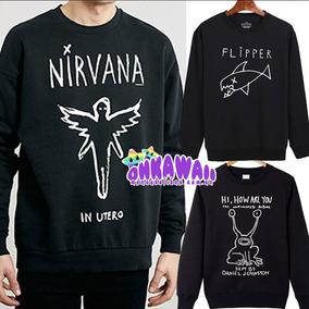 Nirvana - Buzo Unisex - Flipper - Grunge Is Dead - Smiley