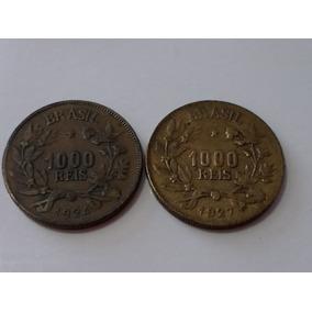 2 Moedas Abundancia 1000 Réis 1924=1927 P/coleçao