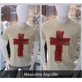Camisetas Masculina Frase Gospel Kit 3 Unidades