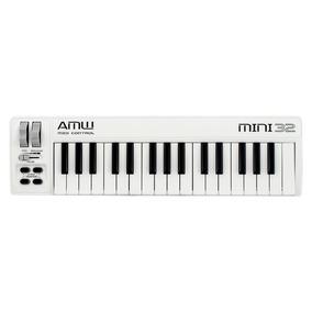 Amw Mini 32 White Teclado Controlador Midi Usb Loja . Gtia