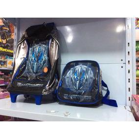 Transformers Kit De Mochila Com Lancheira