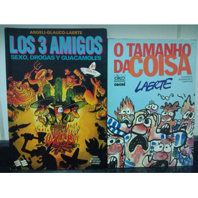 Lote Livros Los Tres Amigos E O Tamanho Da Coisa Laerte Rjhm