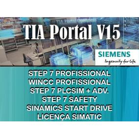 Tia V15 Step7 - Wincc Prof / Plcsim+adv / Safety / Stardrive