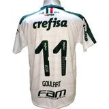 Camisa Palmeiras Goulart Nova Branca Escura 2019 Deca Br 8af3f7e61d190