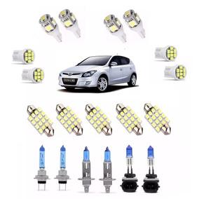 Kit Lampada Super Branca Farol / Milha + Leds Hyundai I30