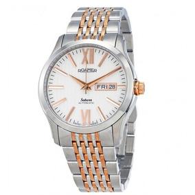 c2345f0f07c Relógio Suíço Saturn Roamer Automático Prata rosé Ouro