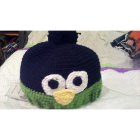 Gorro De Pinguino Tejido A Crochet.