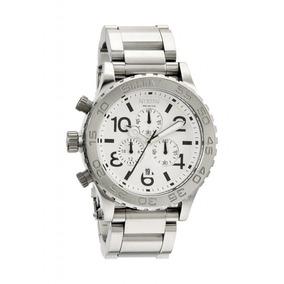 Relógio Nixon Prata Branco Chrono Men´s 51-30 Original