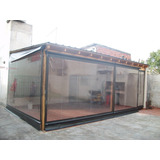 Toldo Cristal Transparente Cerramiento Pvc Enrollable Manual
