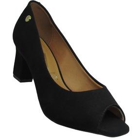 20da52b62 Sapato Feminino Vizzano Preto Camurça Flex - Sapatos no Mercado ...