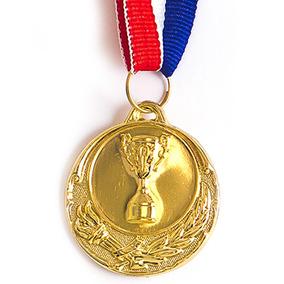 Kit 66 Medalhas 40mm Futebol Alto Relevo Dourada Novidade