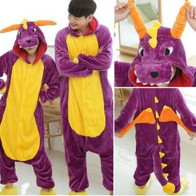 Pijama Mameluco Unicornio Morado Cosplay Kigurumi Unisex