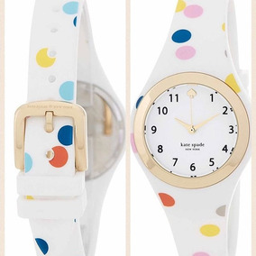 Reloj Dama Kate Spade Rumsey White Confetti Silicón Original