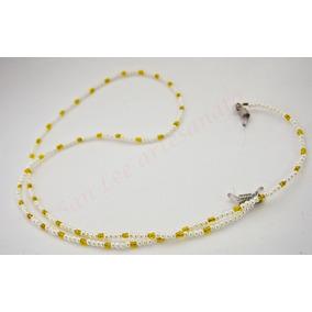 Segura Óculos cordão Para Óculos Mini Pérola Miçanga-amarelo e31a9de0b3