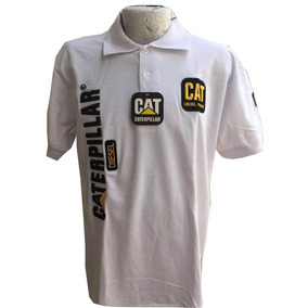 Playera Tipo Polo Cat Caterpillar Xl Blanca